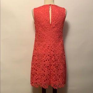 Jessica Simpson Dresses - Jessica Simpson Coral Lace Overlay Dress Sz 4